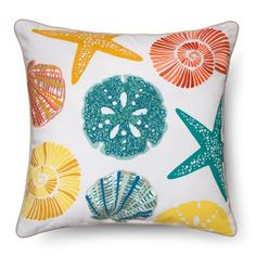 Shell Throw Pillow Multicolored - Threshold™ : Target