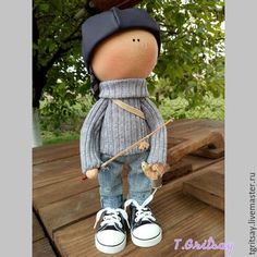 Купить коллекционная кукла рыбак - разноцветный, малыш, пупс, мальчик, мальчику, мужчине, подарок