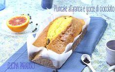 Plumcake allo yogurt greco, arancia e gocce di cioccolato