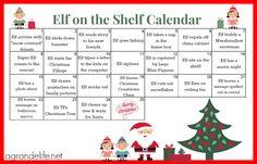 elf on the shelf calendar | Elf on the Shelf Free Printable Journal | A Grande Life