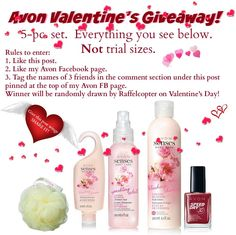 Like my Facebook page to get in on FREEBIES!  https://www.facebook.com/Avon-RepRamona-Harbeson-1685436578339670/