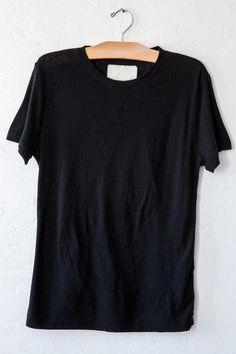 v-room black cashmere crew
