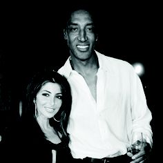 NBA superstar and legend Scottie Pippen along with his wife Larsa.