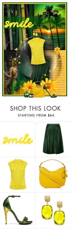 """Smile"" by anna-survillo ❤ liked on Polyvore featuring Poesia, Maison Scotch, Ted Baker, House of Fraser, Lanvin and Effy Jewelry"