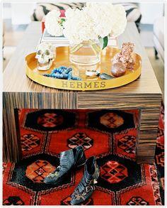 hermes coffe table interior decor inspiration design yellow