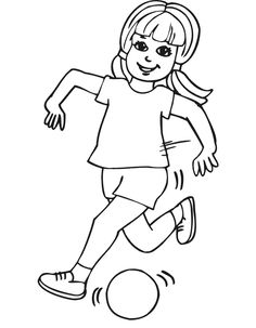 free coloring pages girls soccer