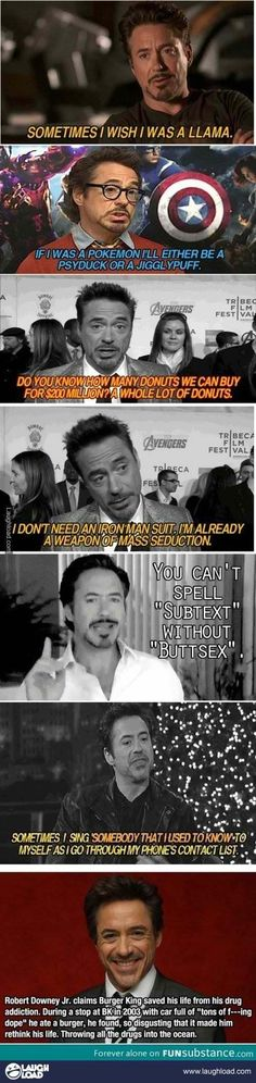 Robert Downey Jr. is awesome!