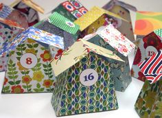 Calendrier avent maison DIY à imprimer / Free printable advent calendar house