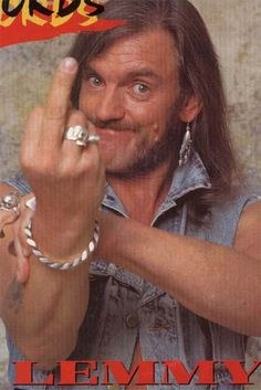 Lemmy Kilmister-he looks so young here...