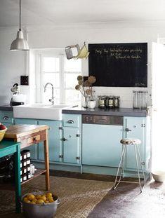 25 idées de cuisine bleue !