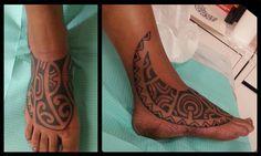 marquesan tattoo foot tattoo   french polynesian tattoo   Tatouage polynésien et Maori
