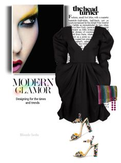 """""""Paint from the inside out  ✈️"""" by blonde-bedu ❤ liked on Polyvore featuring Yves Saint Laurent, Rebecca de Ravenel and modern"""
