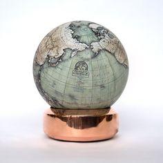 Bellerby & Co. Globemakers The Coppa > pre-order 2019 < - Mini Desk Globes - Our Globes Floor Globe, Desk Globe, Mini Desk, World Globes, Luxury Interior Design, Home Office Decor, Aqua Blue, Copper, Contemporary