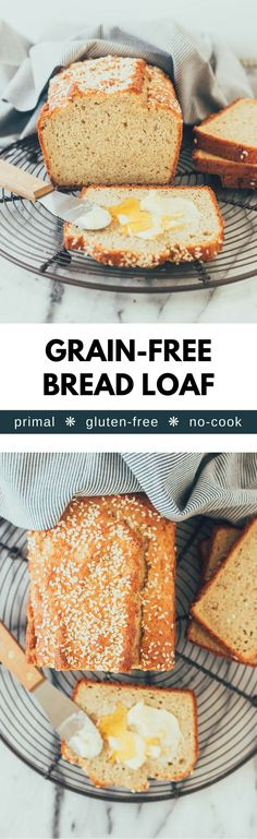 A moist and tender grain-free bread loaf, perfect for avocado toast! Paleo, primal, gluten-free, high-fat, and healthy!