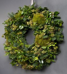 Christmas decoration - Nikki Tibbles Wild At Heart Ltd — CLASSIC GREEN WREATH