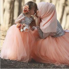 Elegant Tulle Sequin A line Mother and Daughter Dress glitz Pageant Dresses for Little Girls Mother Daughter Gowns--/ NOT AVAILABLE CURRENTLY
