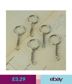 Jewellery Findings (10 Pcs) Key Chain 30 Mm Round Link Chain With Hook Diy Key Rings () #ebay #Home & Garden