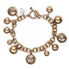 Guess Rose Gold Bauble Bracelet UBB51201 Fiorelli, Winter Sale, Bangle Bracelets, Bauble, Rose Gold, Charmed, Jewels, Diamond, Silver