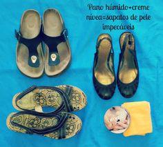 Fada do Lar: Rapidíssimas#1 - Limpar sapatos de pele