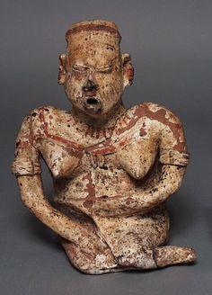 Seated Female Figure. Mexico, Jalisco, 200 B.C. - A.D. 500