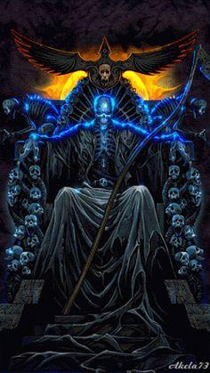 World Of Fantasy Don't Fear The Reaper, Grim Reaper Art, Dark Fantasy Art, Dark Art, Ghost Rider Wallpaper, Skull Wallpaper, La Santa Muerte Tattoo, Ghost Rider Marvel, Sugar Skull Art