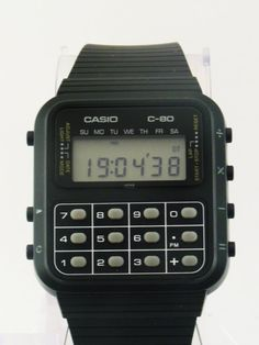 vintage calculator watch