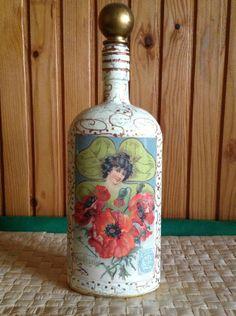 decoupage / bottle