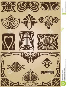 Art Nouveau Elements And Corners Design Ornament - Download From Over 30 Million High Quality Stock Photos, Images, Vectors. Sign up for FREE today. Image: 30741627