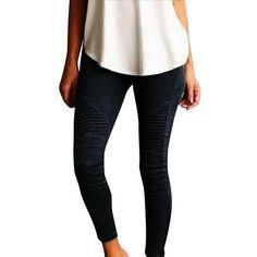 3827dd36dea  Wish  Women Pants Plus Size Casual High Waist Stretch Pencil Pants Women  Slim Fit