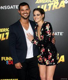 """Taylor Lautner, Kristen Stewart - Avant-première du film """"American Ultra"""" au Ace Hotel à Los Angeles, le 18 août 2015."""