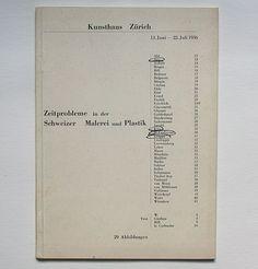 Sigfried Giedion, Max Bill: Zeitprobleme in der Schweizer Malerei und Plastik. Kunsthaus Zürich, 1936. Designer: Max Bill