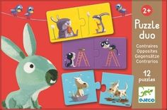 Beautifully illustrated Opposites puzzle by Djeco £7.50
