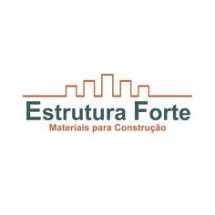 """Criação de marca da loja de materiais para construção """"Estrutura Forte"""". Com a estrutura em tijolinhos passando a ideia de continuidade, crescimento e construção! #paraasuaempresa #oficinadecriação #euamocriar #marca #design"""