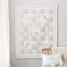Noah's Ark Cot Bed Quilt | The White Company                                                                                                                                                                                 More