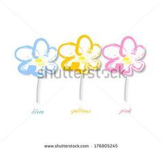 Stylized Flowers on white background - stock photo