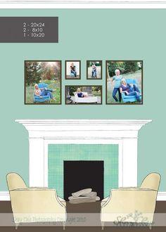 Wall Picture Arrangement...like it