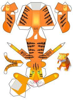 Paper crafts for kids Paper Crafts For Kids, New Crafts, Diy Paper, Paper Art, Arts And Crafts, Printable Crafts, Printable Paper, Printable Animals, Free Printable