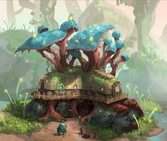 Frogsian's house on Behance