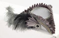MINI Grey Tri Corner Adult Womens MINI Pirate Hat Costume Accessory NEW MINI | eBay