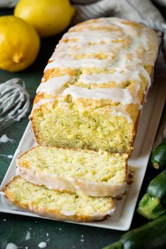 Lemon Zucchini Bread by Cooking Classy Lemon Zucchini Cakes, Zucchini Bread Recipes, Gluten Free Zucchini Bread, Biscotti, Lemon Bread, Brunch, Gateaux Cake, Dessert Bread, Dinner Dessert
