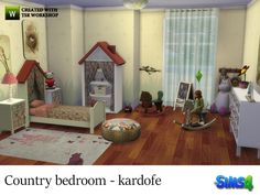Children bedroom country setting  Found in TSR Category 'Sims 4 Kids Bedroom Sets'