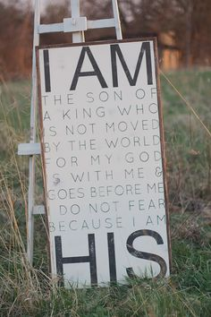 I Am His Son Wooden Sign by TheHouseofBelonging on Etsy