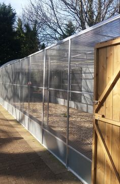 Designers and manufacturers of aluminium aviaries, parrot and other pet cages and runs Big Bird Cage, Large Bird Cages, Bird Aviary For Sale, Poultry Equipment, Diy Bird Toys, Duck Coop, Screen Enclosures, Pet Cage, Game Birds