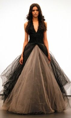 Vera Wang 2012 fall wedding collection. Nude and black. LOVE