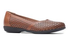 Casually chic in the Dansko Neely flat in toffee!