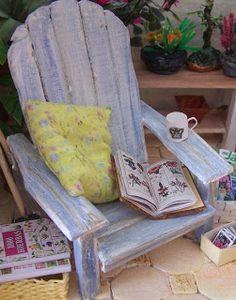 Miniature Adirondack-style chair - template