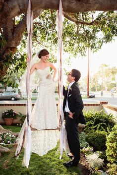 Love this and we'll have a swing too!  http://stylemepretty.com/2012/03/30/coronado-island-wedding-by-shewanders-photography/ Photography by shewanders.com