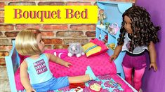 Doll Bouquet Bed | DIY American Girl Doll Bed & Trundle