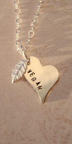 vegan by Lady-Callie on DeviantArt Hand Stamped Necklace, Dog Tag Necklace, Vegan Meringue, Vegans, Going Vegan, Scarves, Delicate, Deviantart, Sterling Silver