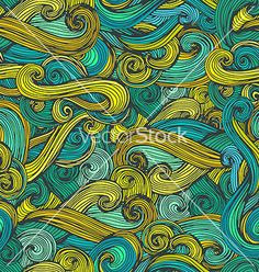 Round curles waves vector  by Favete on VectorStock®
